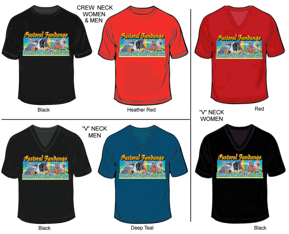 Festival T-shirt options