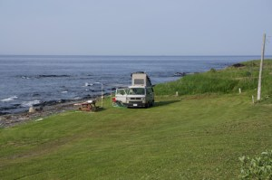 van-on-beach