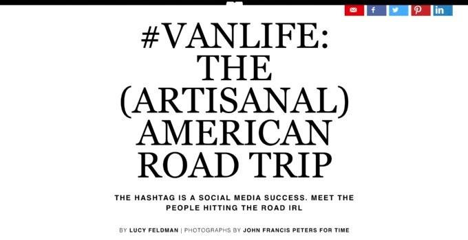 Vanlife, the hashtag