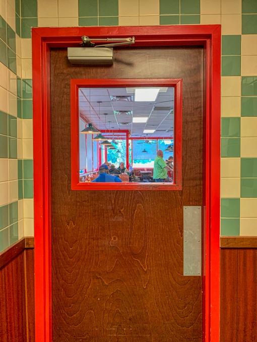 doorway to fried seafood