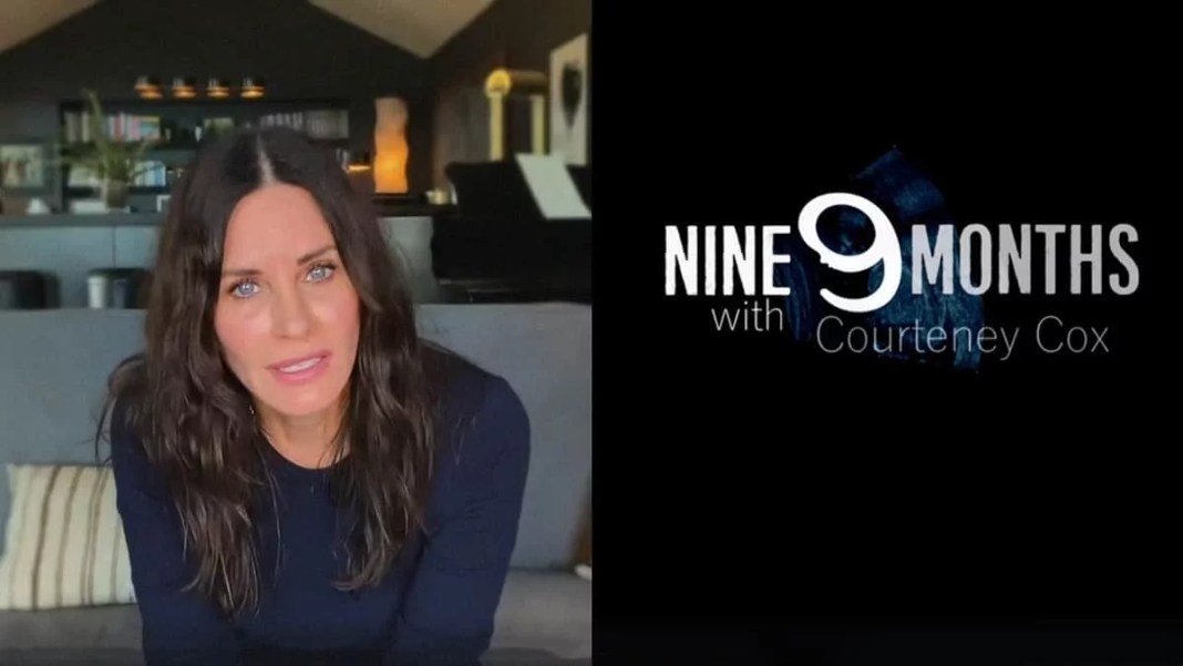 Courteney Cox presenting the trailer of the second season of