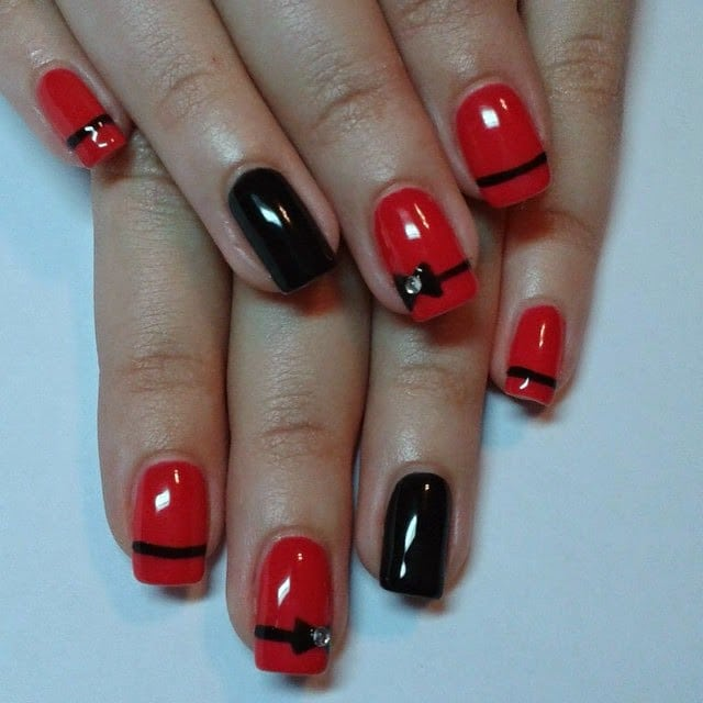 idee unghie facili san valentino