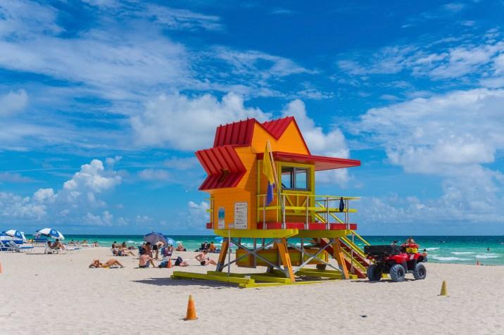 miami beach strand hütte 1