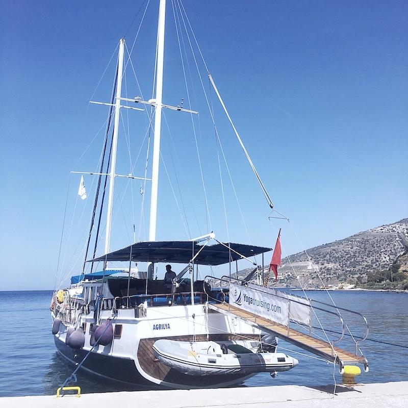 Segelboot Tilos Griechenland