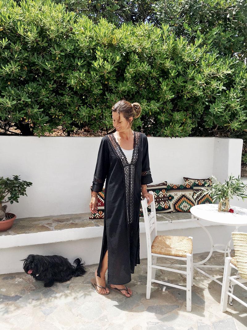 Jeanette-Black-Dress-Villa-Zoe-Kreta