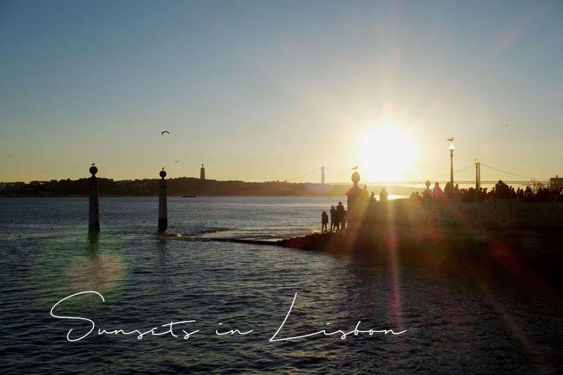 Sonnenuntergang-Lissabon