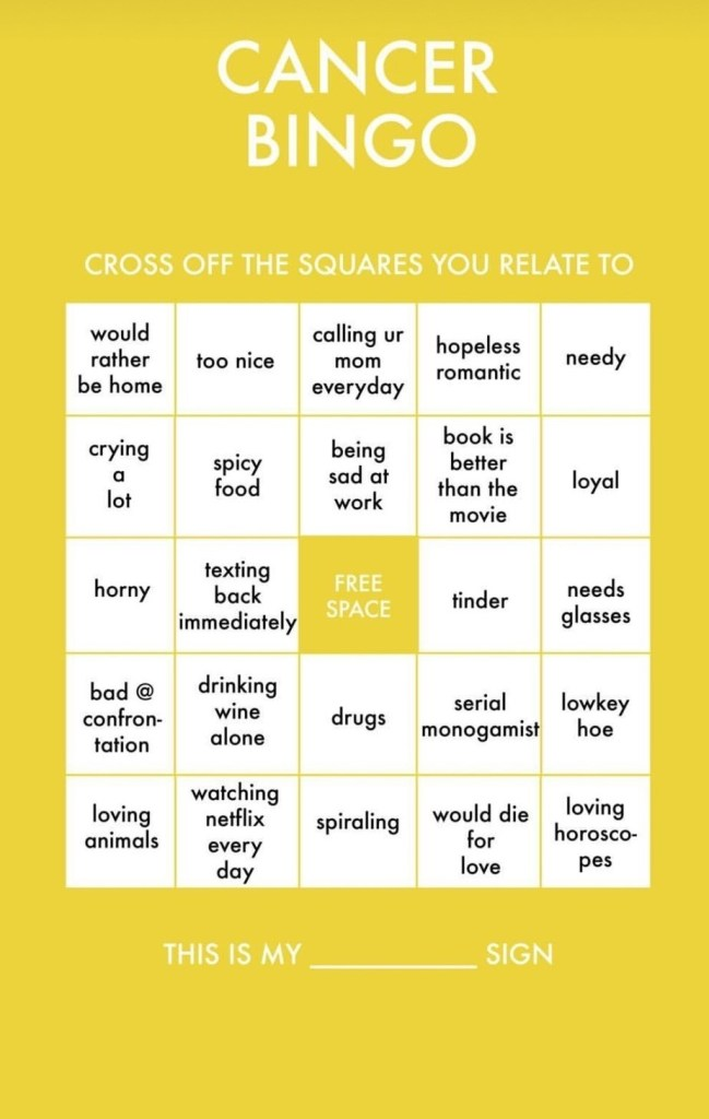 Cancer bingo