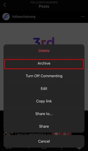 How to archive Instagram posts
