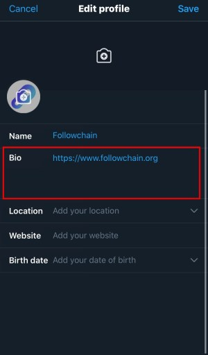 How to put your Instagram link on your Twitter bio
