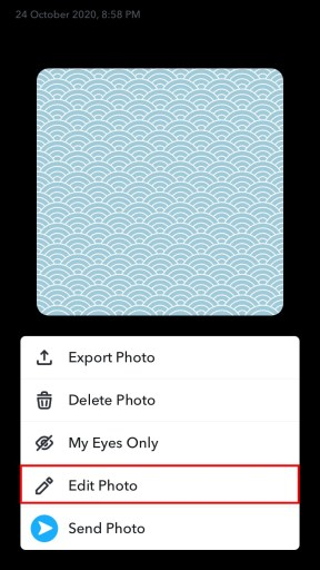 Snapchat edit photo from camera roll
