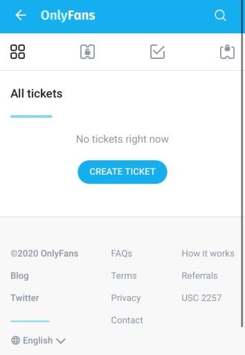 OnlyFans ticket