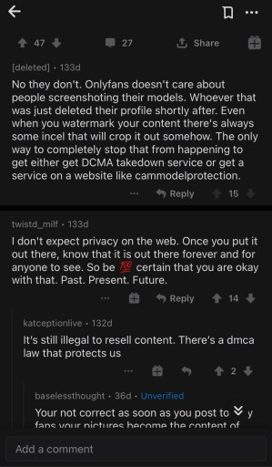 What happens if you screenshot on OnlyFans?
