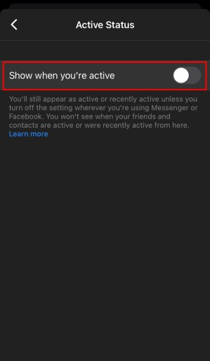 Can't see last active on Facebook Messenger