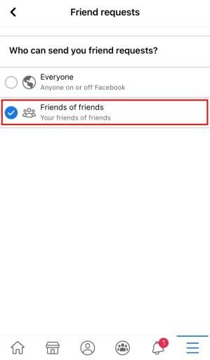 Friends of friends Facebook