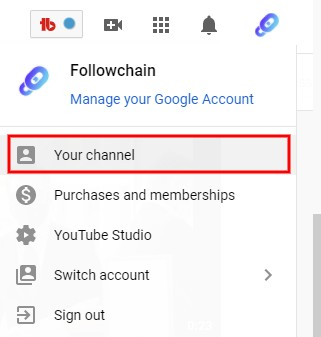 Your channel on YouTube