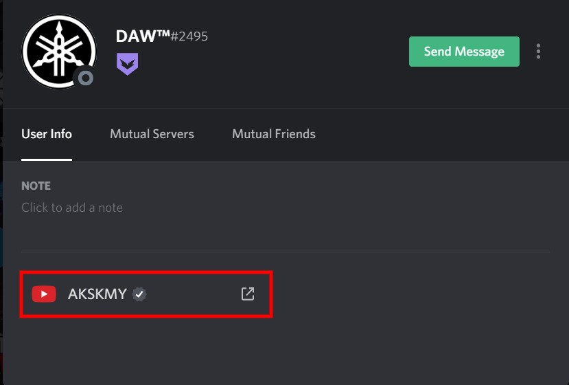 What does connecting Discord to YouTube do?