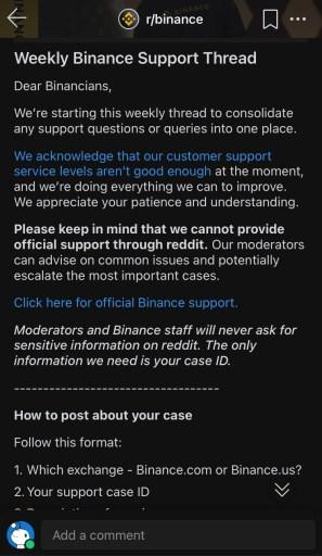 Binance Reddit