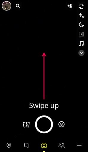 Snapchat swipe up