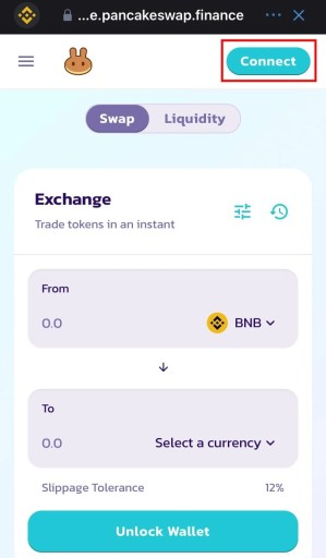 How to connect Trust Wallet to PancakeSwap