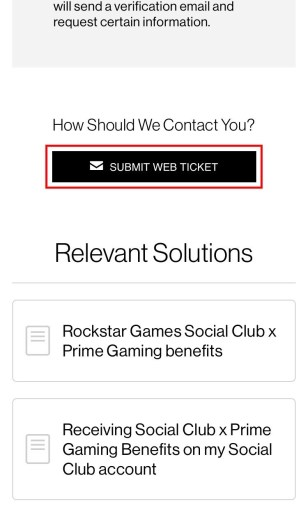 Submit a web ticket to Rockstar Support
