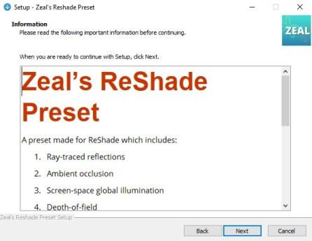 Zeal's ReShade Preset