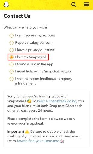 How to get your Snapchat streak back