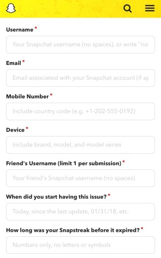 How to get your Snapstreak back