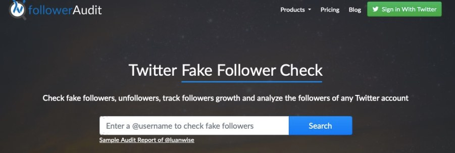 Twitter fake follower check