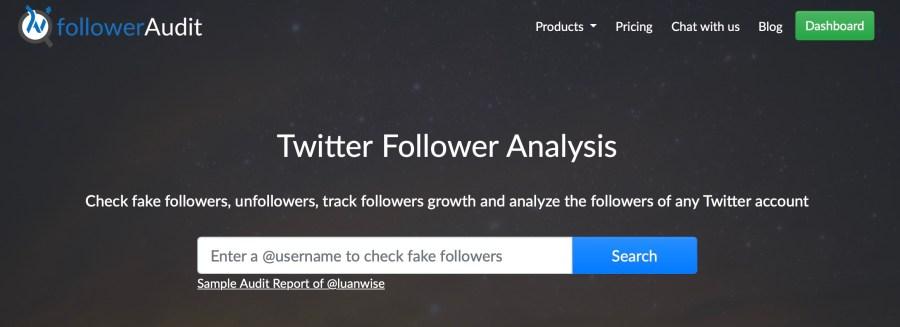FollowerAudit Twitter follower analysis