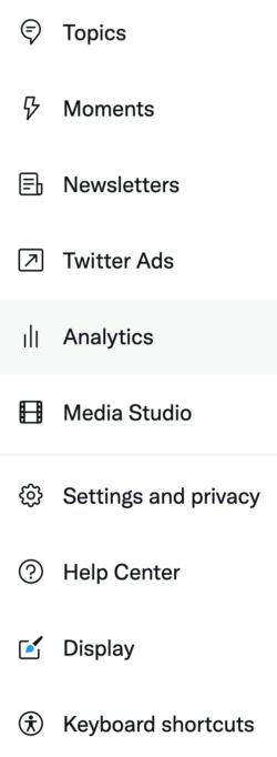 access Twitter Analytics step 2