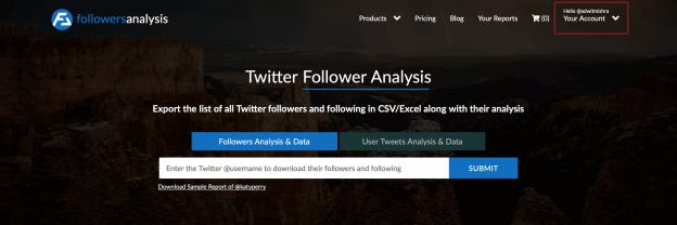 FollowersAnalysis for Twitter Followers Analytics