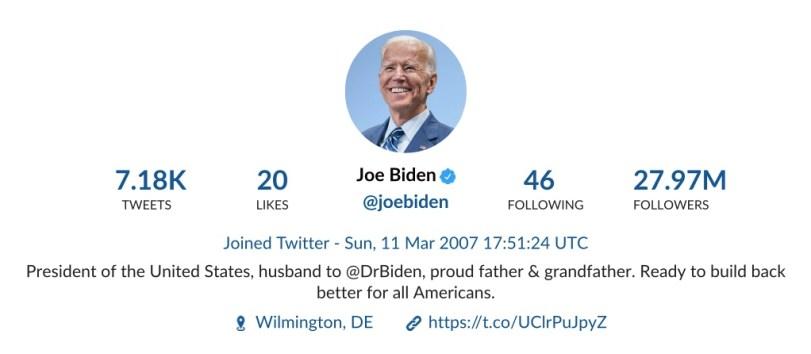 Joe Biden tweet analysis report