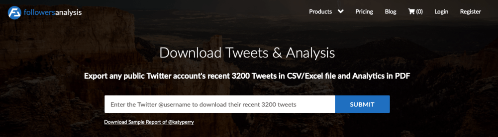 download Twitter archives with FollowersAnalysis