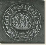 "Belt buckle insribed with phrase ""Gott mit uns"""