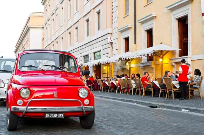 automatic italy car rental in rome