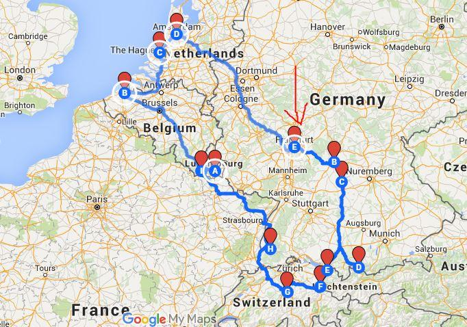Antwerp Map Europe.The Perfect European Road Trip Route 8 Countries In 7 Days Follow