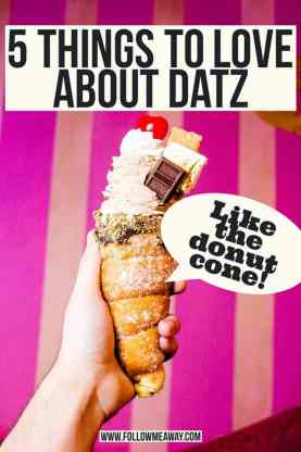 5 Things To Love About Datz | Follow Me Away Travel Blog | Where To Eat In Tampa | Best Recipes For Dinner | Doughnut Ice Cream Cone