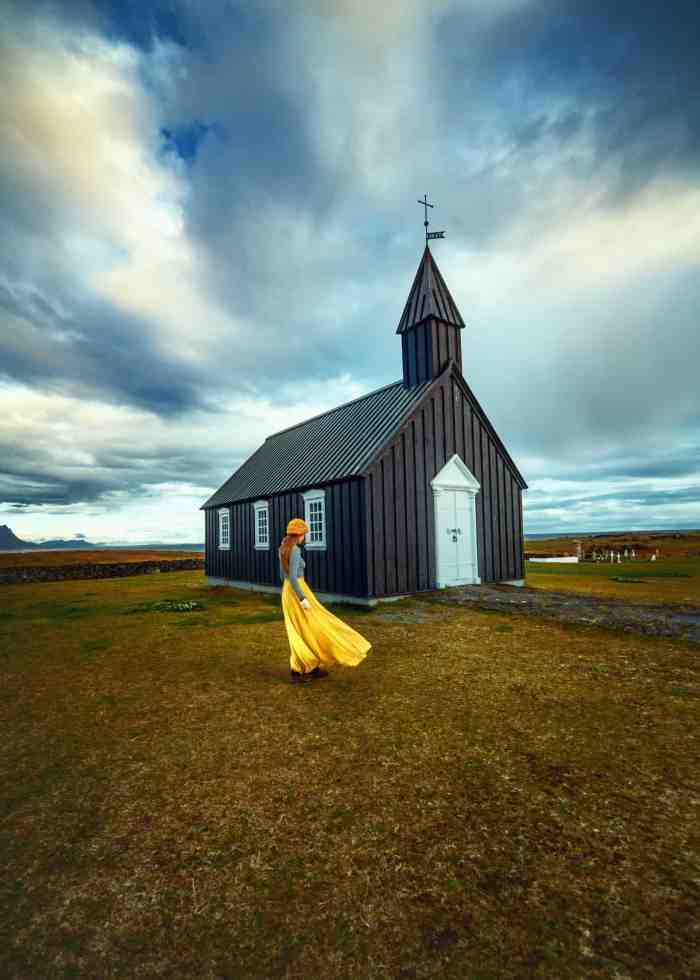 Visit Budir Black Church on Iceland's Snaefellsnes Peninsula