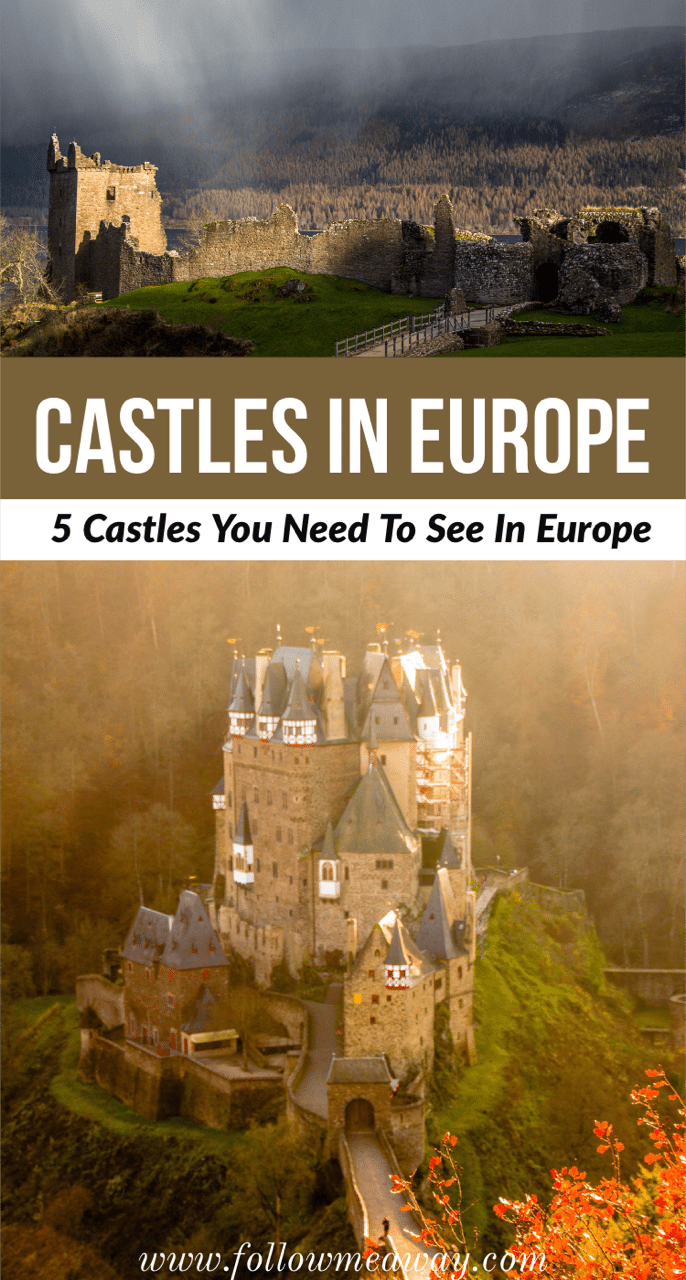there are so many castles in europe to visit that it was hard to narrow down such a short list! European castles are full of dreamy history and you need to put these 5 castles in Europe on your bucket list!   amazing castles in England   best castles in Europe   #castles #europe #europetravel #england #france #scotland #Portugal #bestcastles #fairytale #traveltips