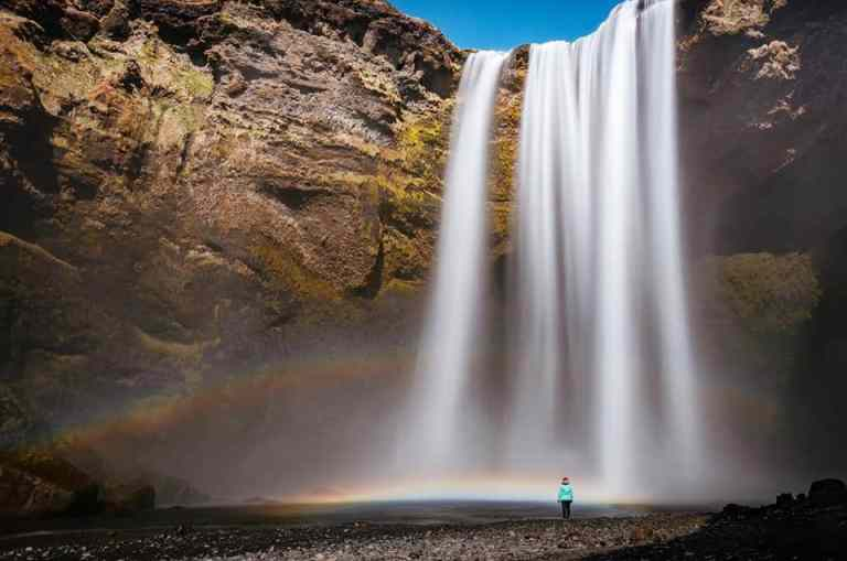 la cascada de Skogafoss Islandia