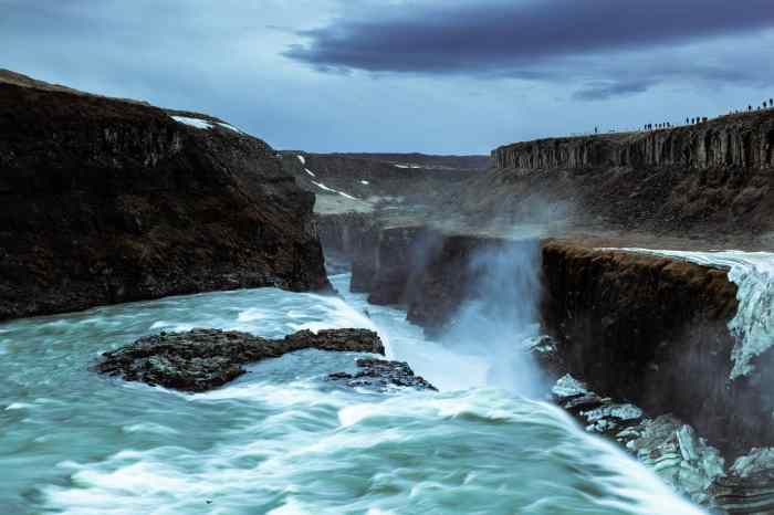tips for getting long exposure photography at Gullfoss Waterfall in Iceland
