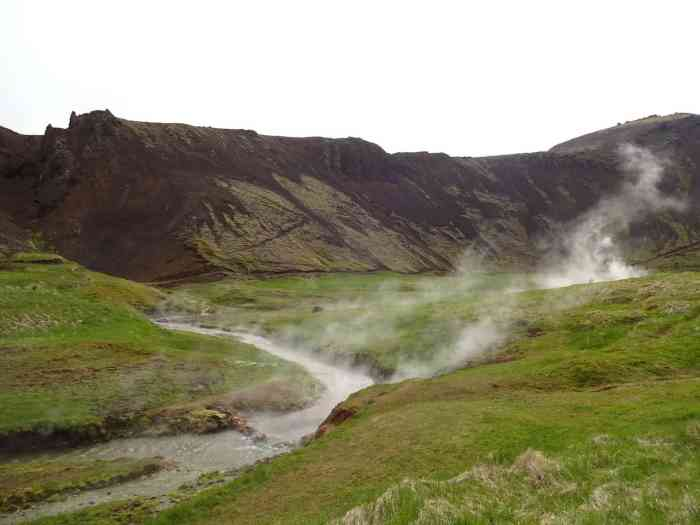 Reykjadalur Valley hot springs is one of the best hikes in Iceland | Iceland travel tips