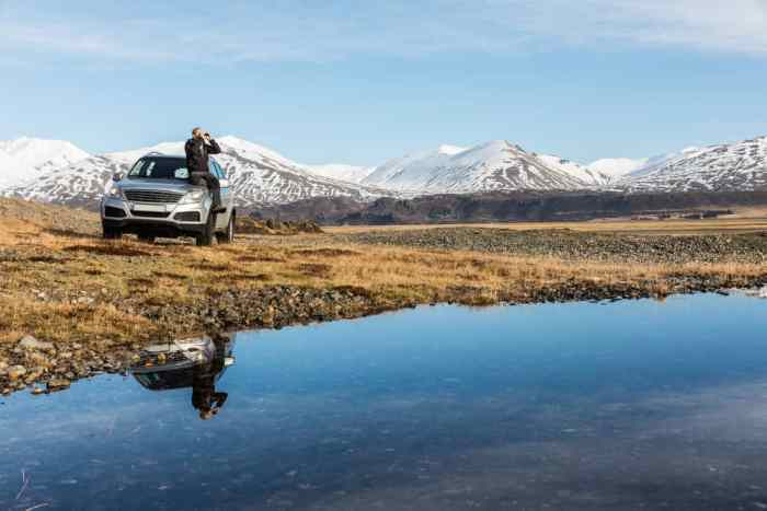 car off-road in iceland which is illegal