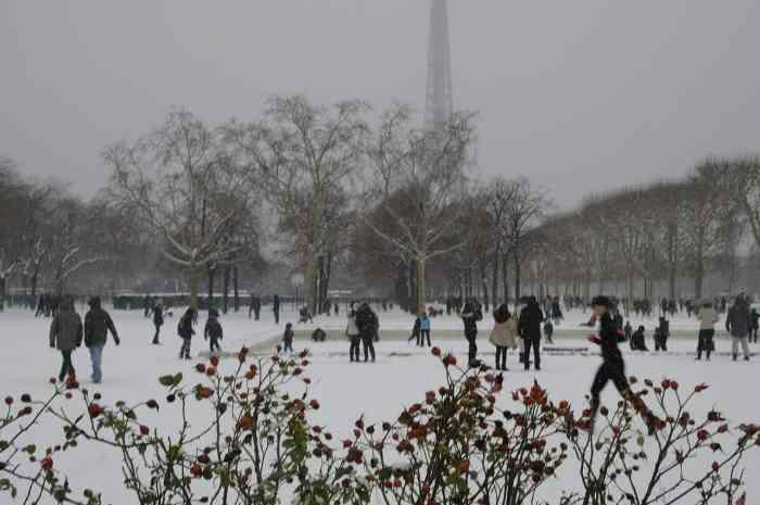 ice skating in paris in winter