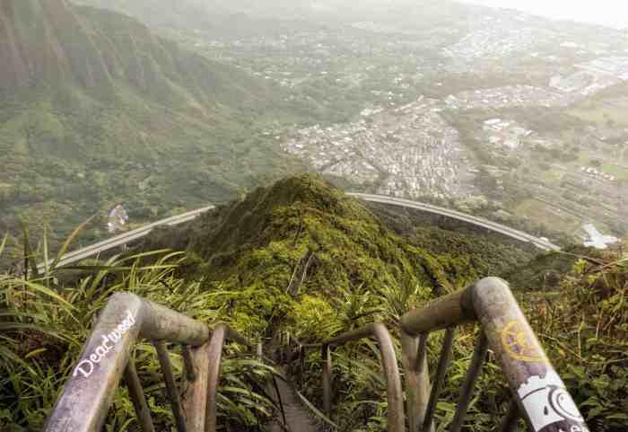 Stairway To Heaven And Haiku Stairs are one of the best hikes in Hawaii