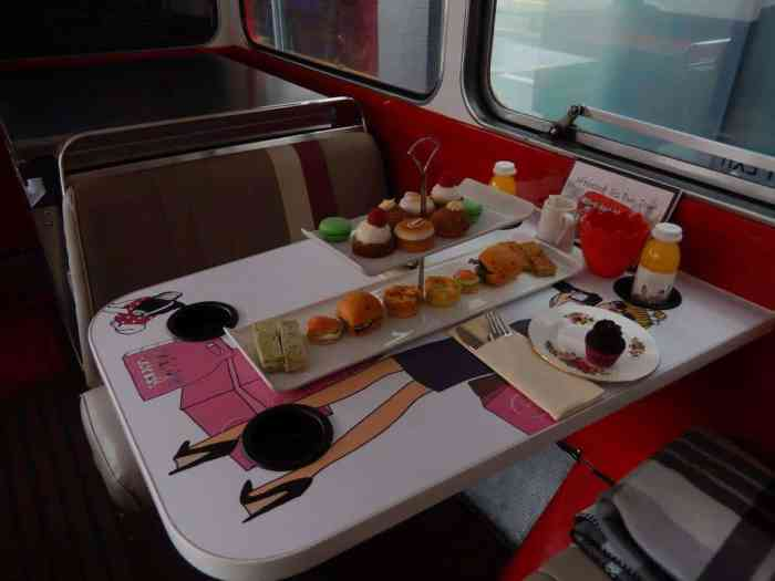 try the Afternoon tea bus in London