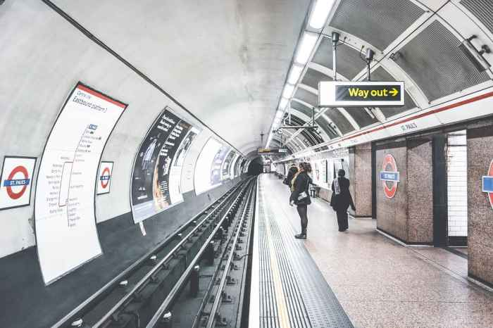 take the tube during your london itinerary