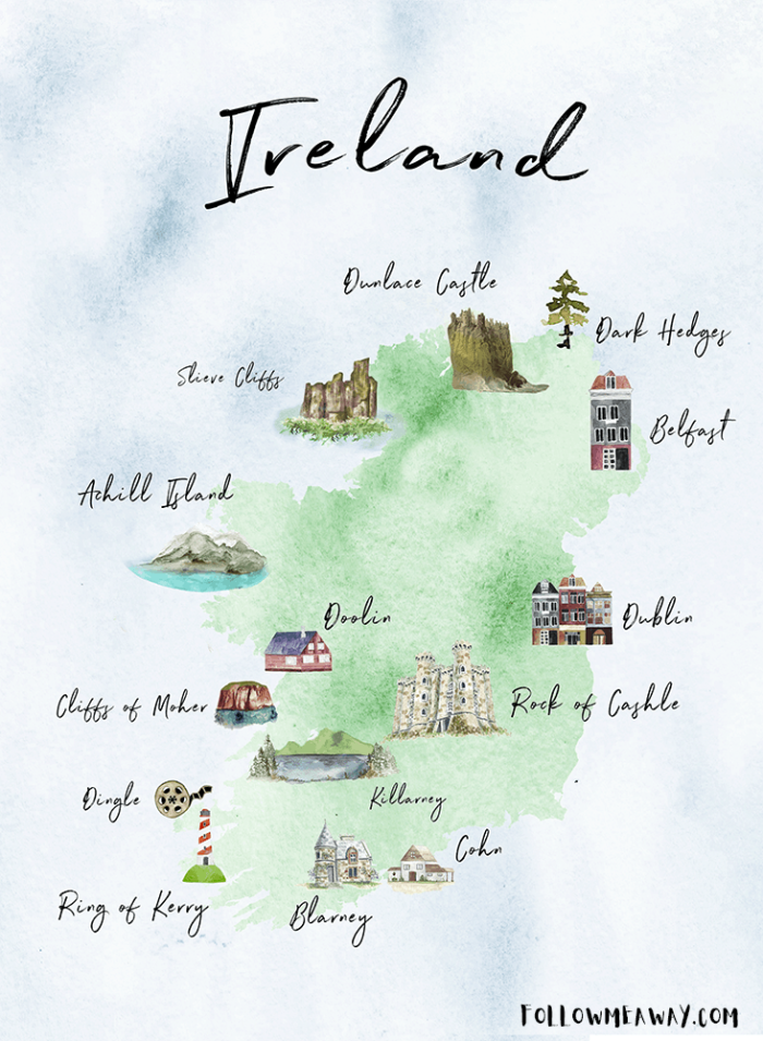 Map Of Ireland Ireland.The Perfect Ireland Road Trip Itinerary You Should Steal Follow Me