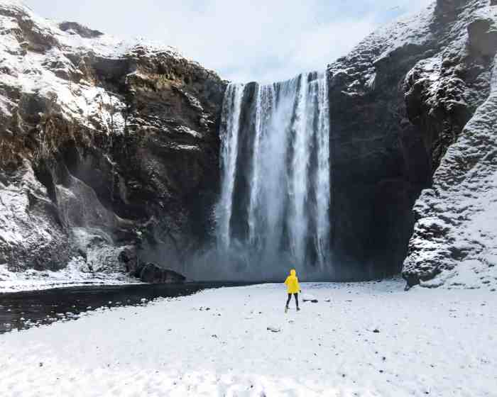 things to do in iceland in winter skogafoss
