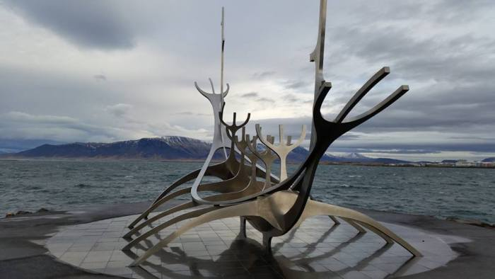 visit the sun voyager sculpture for what to do in iceland in winter